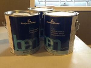 3 CANS OF PREMIUM BENJAMIN MOORE PAINT