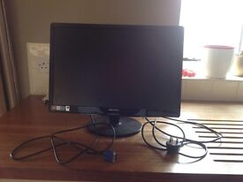 """Hanns G 22"""" 56cm PC monitor screen, great for photography"""