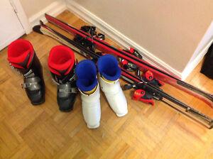 Junior skis, boots, bindings