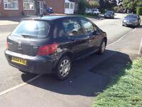 Peugeot 307 black 1.4 2004