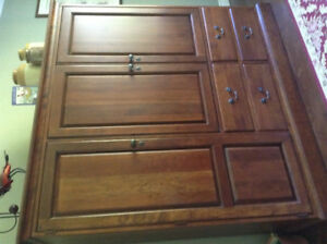 Tall Entertainment Unit with Closing Doors