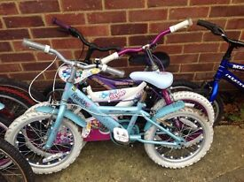 Selection of children's bicycles all serviced from £15 each
