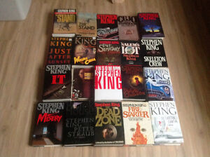 Stephen King hardcover and paperback books