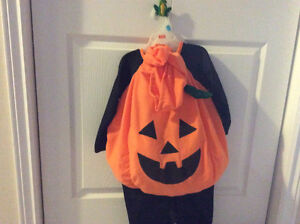 Pumpkin Costume size 2-4 yrs with hat for adult too