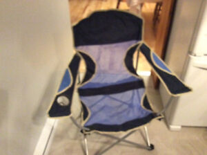 3 Folding camp chairs