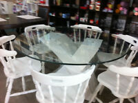 black friday sale. round glass table (friday & saturday)