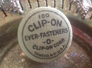 "VINTAGE "" CLIP-ON EVER- FASTENERS"" BOX"