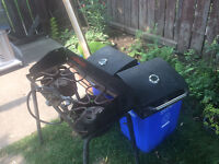 Dual burner Camp Chef barbecue with 2 grill boxes