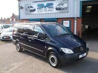 MERCEDES VITO 111CDI LONG TRAVELINER MINIBUS WITH LEATHER SEATS NO VAT TO PAY!