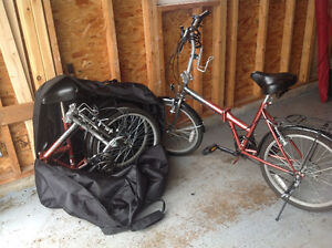 Two Foldable Bikes