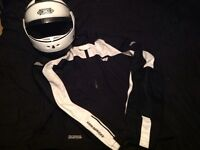 Motorbike jacket and helmet