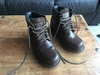 Youth's / Women's Caterpillar, Brown Nubuck Leather Boots, Size 6/40