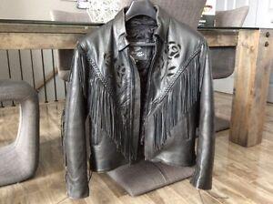 manteau de cuir pour femme pour la moto