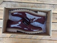 Clarke ladies shoes, Burgundy Patent, Griffin Monty size 5D/38