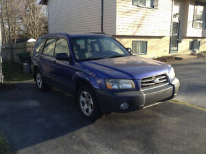 2004  Forester Blue suv bargain deal