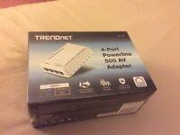 Brand New Sealed 4 Port Powerline Homeplug Ethernet 500 AV Adapter