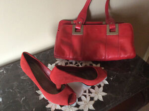 Women's shoes and matching purses