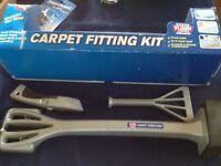 Professional carpet fitting kit.