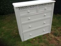 Shabby chic French style chest of drawers