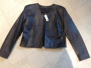 "NEW - Leather ""Simon Chang"" Jacket"