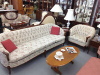 Vintage French Provincial Sofa and matching chair, sofa