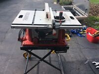 """Skill 10"""" Table Saw with Folding Portable Stand"""