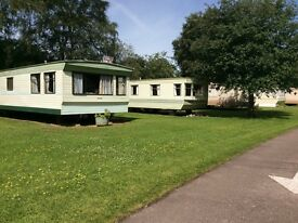 2 bedroom caravan on a quiet park in moray at Brodie for rent long term