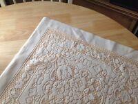 Vintage cream table cloth
