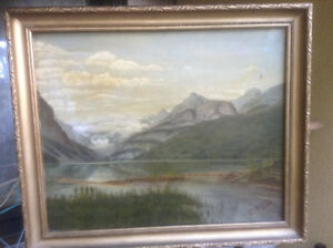 Antiques Oil Painting Signed