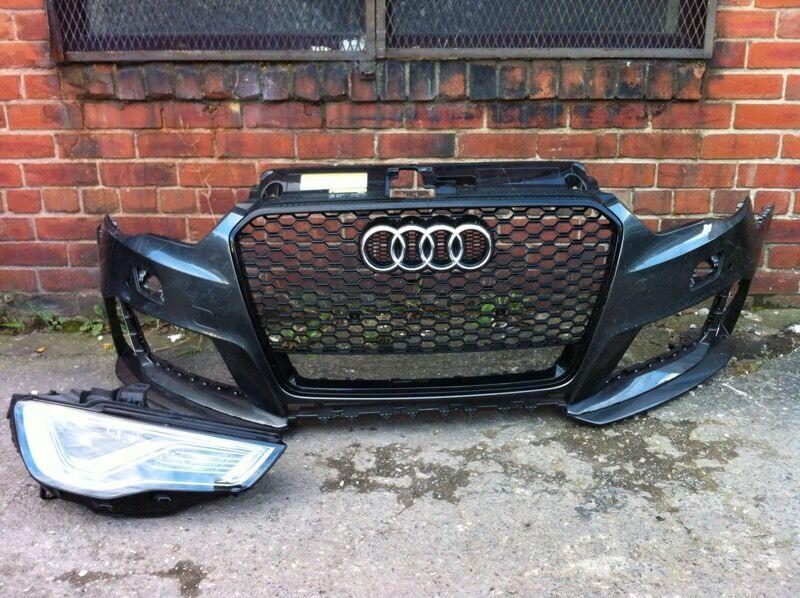 Audi RS3 8v4 2016 genuine front bumper + grille + driver side xenon headlight for sale