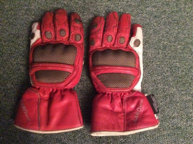 Leather Motorcycle Gloves (Size - L)