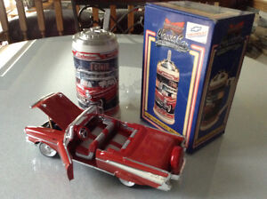 FOR SALE:  1957 CHEVROLET BEL AIR BEER STEIN & DIECAST CAR