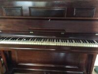 Upright Piano - antique - working