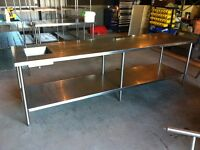 Stainless Table with Built in Sink for Restaurant or Garage
