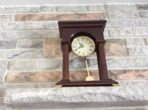 "Dark wood clock - Mint condition! - ""OBO"