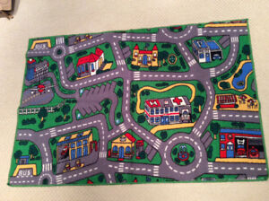 Kids Car and City Floor Mat
