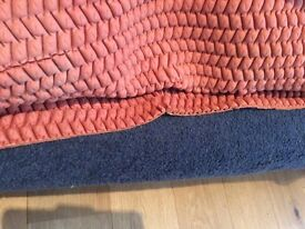 Ex quality mid blue carpet with underlay, all ex cond 2.9 x 3.7 m bargain