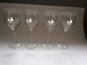 Montreal Expos Wine Glasses Set of Four