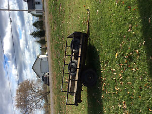 Utility trailer with two spare tires for sale