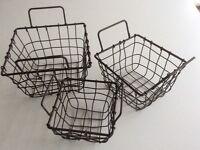 3 wire baskets