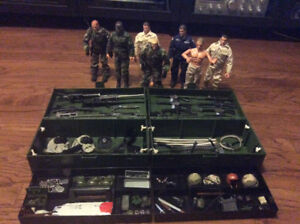 G.I. JOE COLLECTION OF 7 ACTION FIGURES FOOT LOCKERS & EQUIPMENT