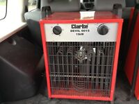 Clarke devil 6015 15kw spaceheater