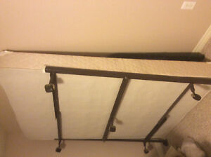 Queen boxspring and rails