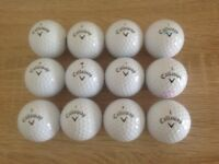 12 CALLAWAY SUPERSOFT GOLF BALLS IN ABSOLUTELY MINT CONDITION