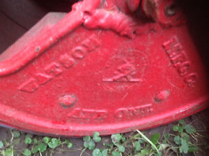 Antique lawn roller
