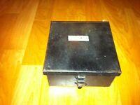 Vintage metal spare parts box