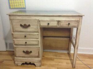 """""""Antique"""" Bureau mi-Métal Robust(e)Old-Fashion 1/2 Metal Desk"""