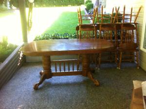Solid wood Dining room set deal!