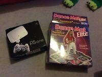 Ps One console and dance mat