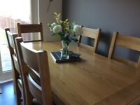 Beautiful family dining table and matching chairs
